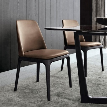 Modern wood design dining table chair