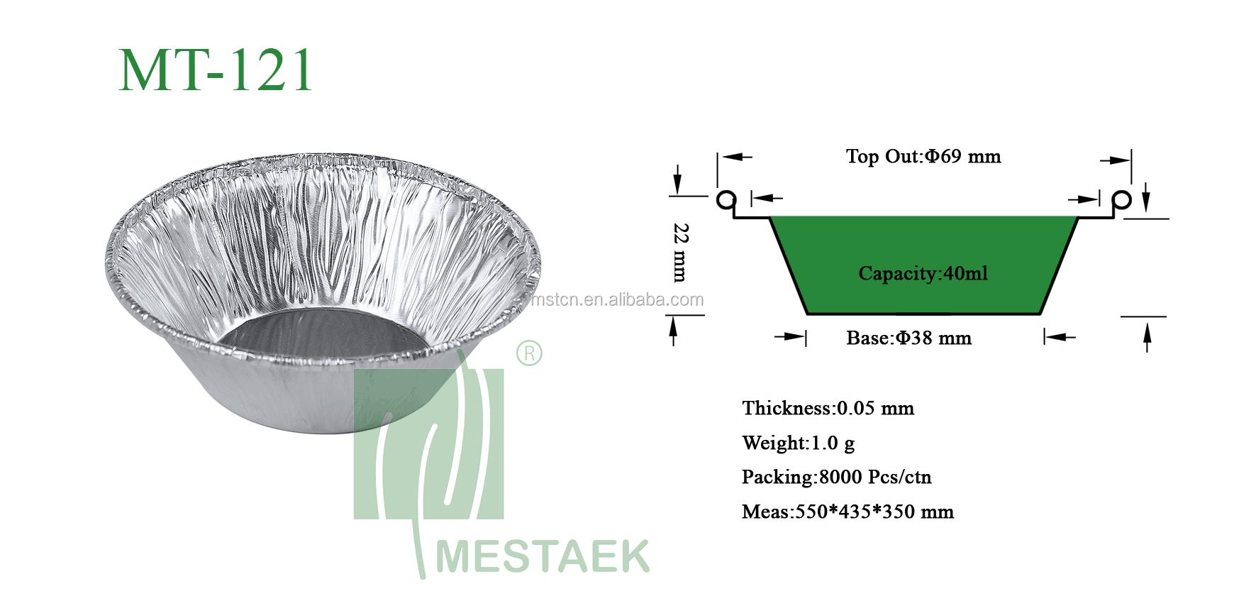 MT-121 40ml אלומיניום רדיד אפיית עובש מיני Cupcake ביצת טארט פאן