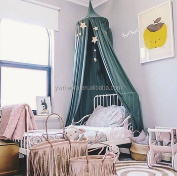 Wholesales Baby Bed Canopy Curtain Round Top Dome Hanging Mosquito Insect  Net Cover For Bedding Room