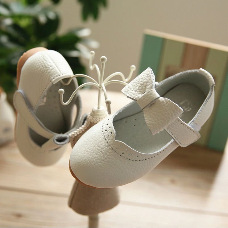 2016 new summer baby shoe fashion baby dress shoe cute bow kid genuine leather shoe