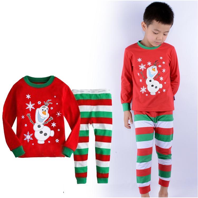 3D Cartoon Kids Pijamas Autumn Long Sleeve Cotton Tops Strip Pants Baby Boys Pajamas Children Clothing