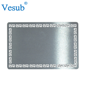 Wholesale cheap bulk blank silver plated embossed sublimation wholesale cheap bulk blank silver plated embossed sublimation printing metal business card colourmoves Images