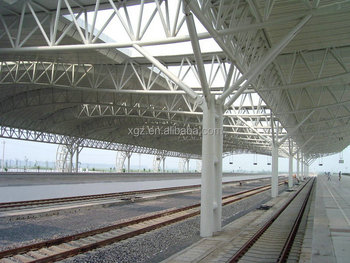 Tubular Truss Structural Roofing Railway Station Project