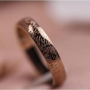925 Sterling silver man Fingerprint Ring Gothic Swirl Ring wholesale cheap Spiral Rings for Women Jewelry