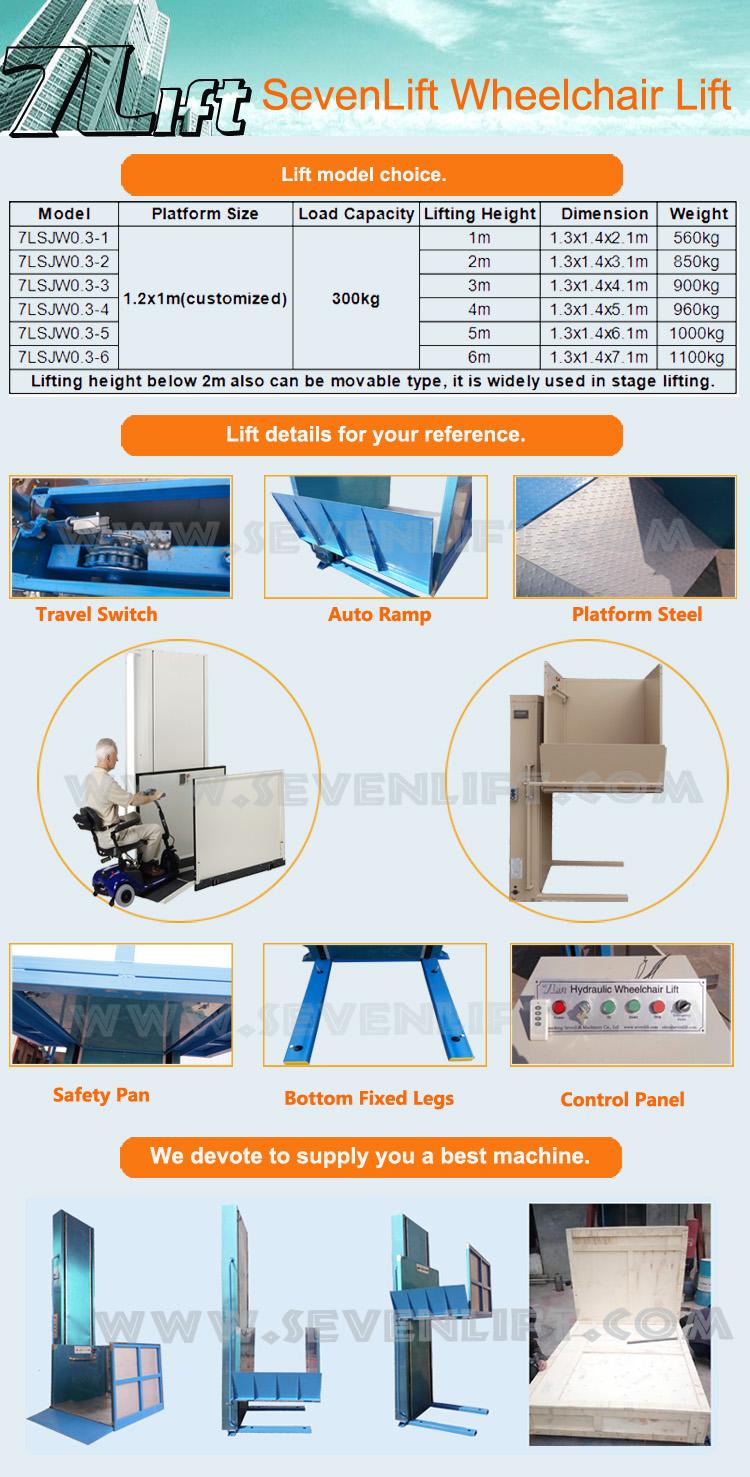 7lsjw Shandong Sevenlift Small Home Hydraulic Outdoor Manual ...