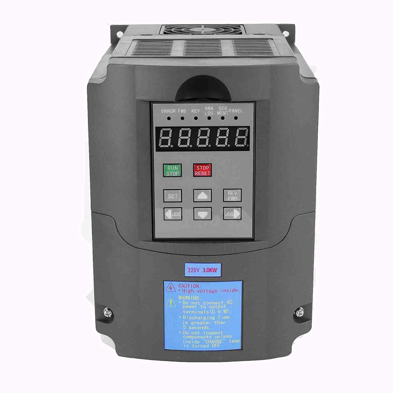 Maxwolf 3KW VFD Variable Frequency Drive Inverter for Spindle Motor Speed Control 4HP 13A 220-250V (220V/3KW VFD)