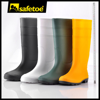White Pvc Boots,Plastic Boots For Rain,Pvc Work Shoes W-6036 - Buy ...