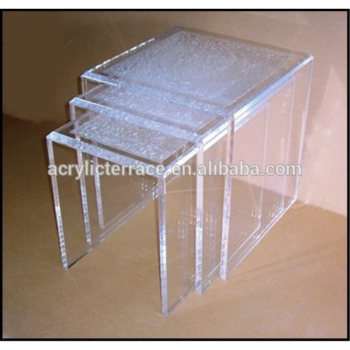 Lucite Nesting Table Night Stand Acrylic Side Table FD1408032002