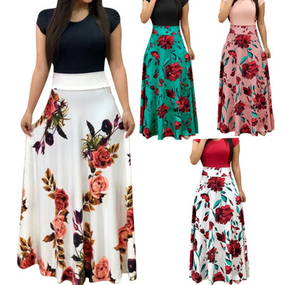 Women Floral Maxi <strong>Dress</strong> Prom Evening Party <strong>Dresses</strong> Women Summer Beach Casual Long <strong>Dresses</strong> Women