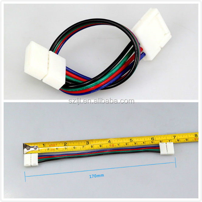Shenzhen 4 pin 10mm rgb 5050 led strip connector