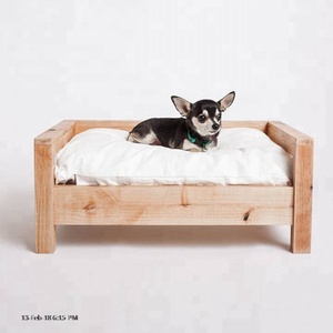 Eco-friendly Bamboo Wooden Pet Dog Cat Bed