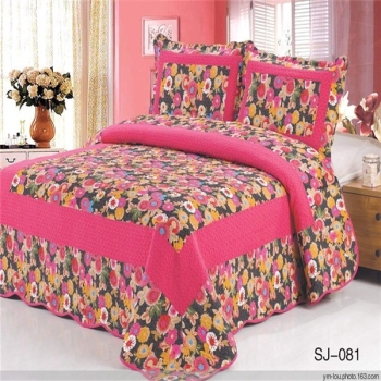 Hot Queen Size Cotton Material Quilted Bedspread Bedspreads