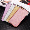Shining Bling Sequin Mesh Back Cover TPU Soft Mobile Phone Case for iPhone6 6s