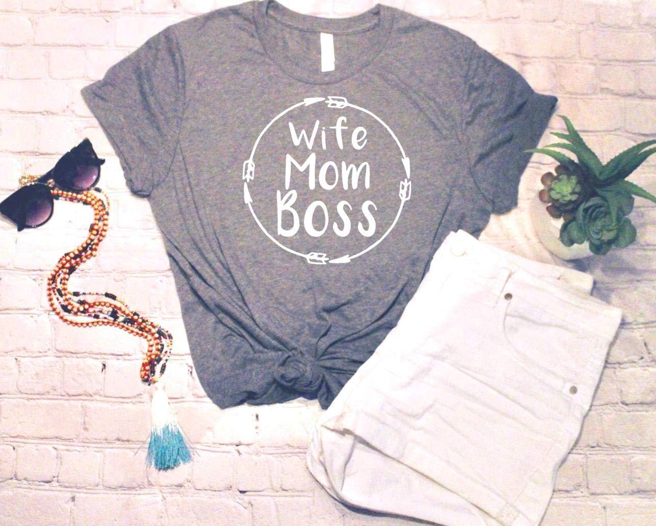 Wife Mom Boss, Football tee, Tee Shirt, Soft Tee, Tshirt, Tee