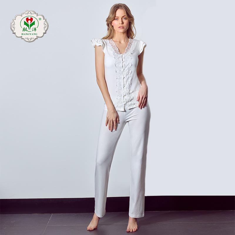 100% cotton Short Sleeve Women Nightgown, Nightdress, Sleepwear autumn cotton pajamas