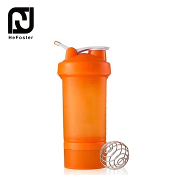 Factory Direct PP SealThree-Layer Fitness Sports Plastic Shake Cup Protein Powder Shake Bottle
