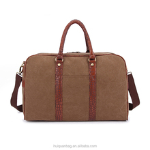 High quality 16oz waxed canvas cross body travel bag 15.6'' laptop bag for sale