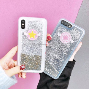 Magic Angel Wing Soft TPU Case For iPhone 8 8Plus Glitter Stars Liquid Phone Protective Shell For iPhone X Conque Funda Covers