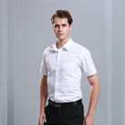 Factory Price Men Short Sleeve Business Men's Formal Dress Shirt