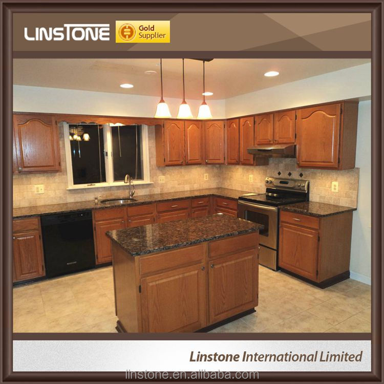 Custom Polished Cafe Imperial Grantie Kitchen Countertops