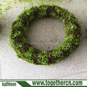 Newborn Photography Props Green Moss Wreatth Backdrop Baby Photo Prop Garland