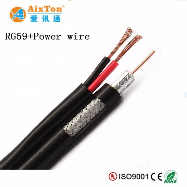 High Quality new design cctv camera cable coaxial RG59 / RG6 power cable for lift and elevator