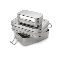 Student Worker Traveler Playing Eco-Friendly High Quality Leak-Proof Fun Sus 304 Bento Stackable Stainless Steel Lunch Box