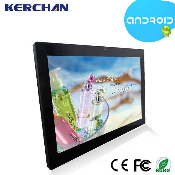 Kerchan 21.5inch Commercial use Android Tablet ad player with Visa Hole for fix