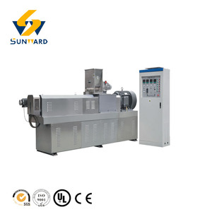 Steam and dry method fish flake food machine, fish feed pellet extruder