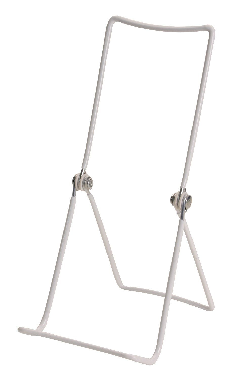 "Gibson Holders 12 3A Adjustable Wire Display Easels- 3.75"" W x 8"" H with 1.5"" display ledge, White"