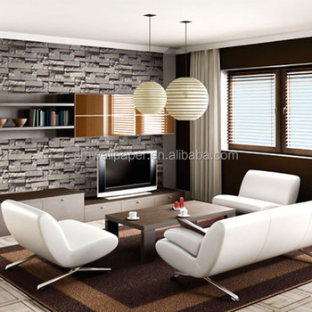 Home Interior Decoration 3d Stone Marble Wall Brick Wallpaper For