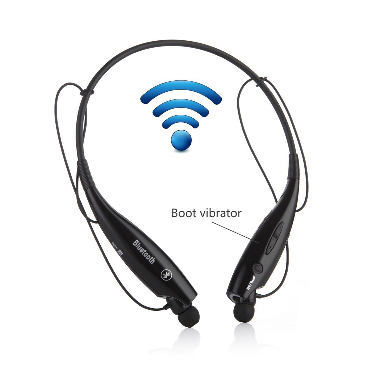 6e4c85e9491 Get Quotations · Wireless Bluetooth Music Stereo Universal Headset  Headphone Bluetooth Headset Universal Vibration Neckband Style Headset  Earphone Headphone