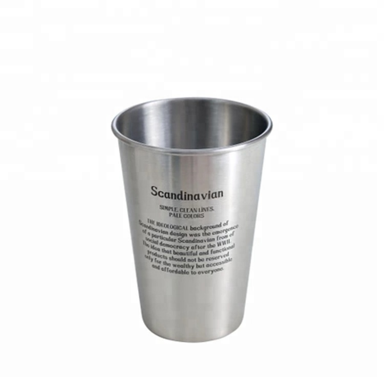 Customize logo 304 stainless steel cold drink cup bar wine cup фото