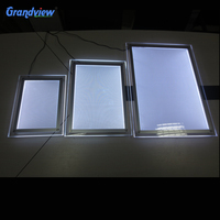 Indoor wall mounted and hanging clear acrylic led crystal light frame