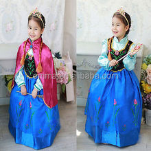 hot Frozen Elsa Dress Up Gown Costume Ice Princess Queen Dress wholesales BC286
