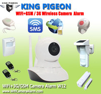wifi home security night vision camera telecamere sorveglianza wifi spy camera WIFI+3G/GSM camera alarm W12