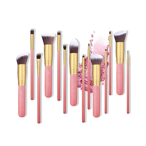 Amazon Best Selling 14 pcs Professional Big Size Makeup Set Cosmetic Kabuki Brush