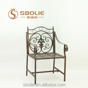 China Proveedor Jardín Al Aire Libre Muebles De Metal De Hierro ...