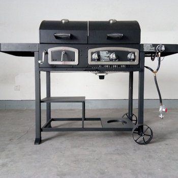 Gas Charcoal Smoker 3 In 1combo Barbecue Grills For Backyard