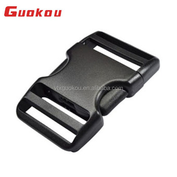 Wholesale plastic double adjustable quick side release buckle for backpacks