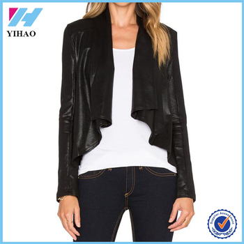 Yihao 2016 Girls Winter Latest Designs Ladies Leather Jacket