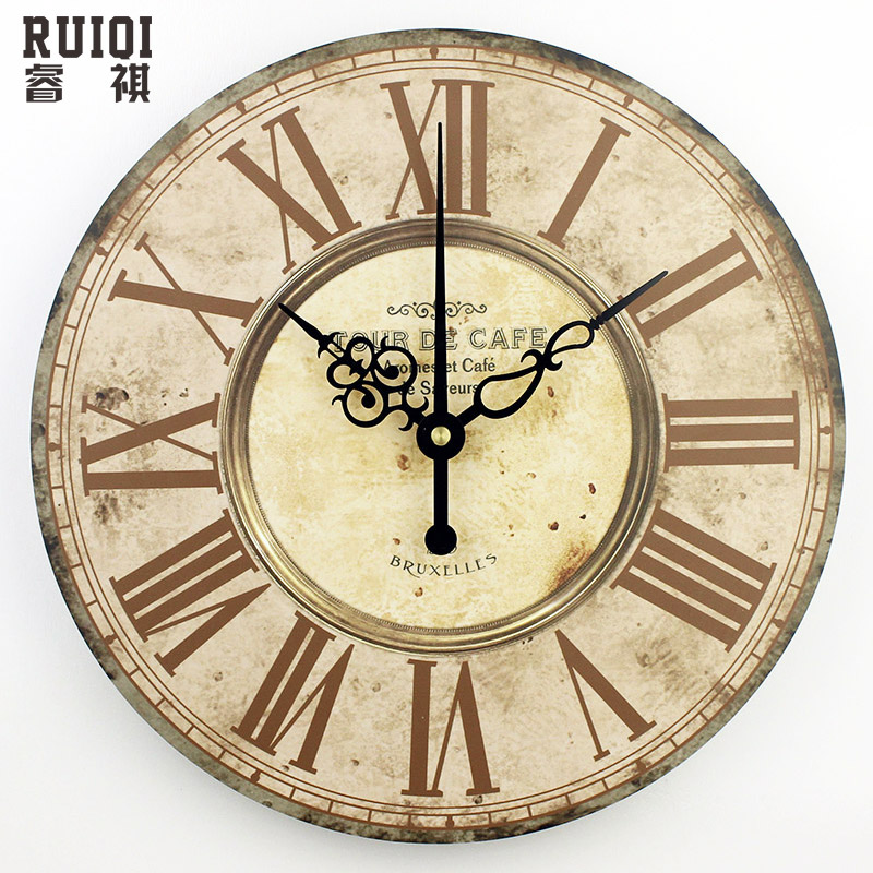 achetez en gros chiffre romain horloge murale en ligne. Black Bedroom Furniture Sets. Home Design Ideas
