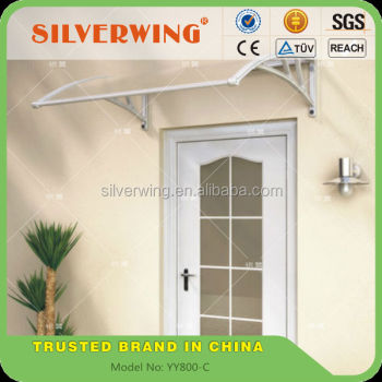 Modern Transparent Awning Small Window Awning Parts For Plastic Door