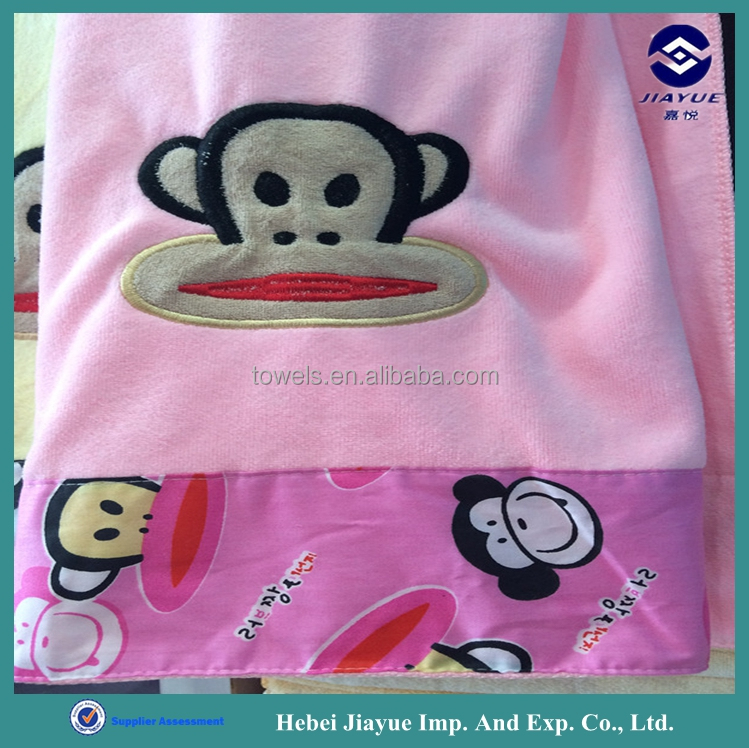 wholesale luxury microfiber solid colour dobby thicken kids bath towel