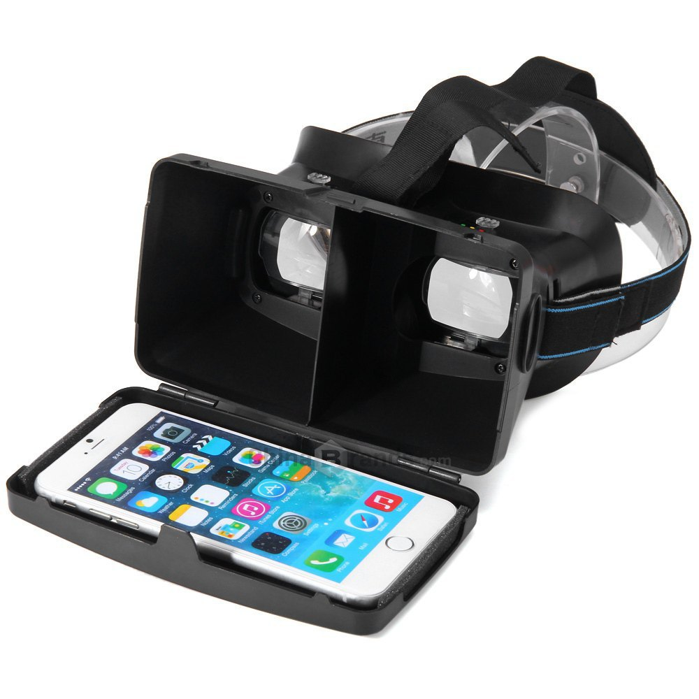 RITECH II Head Mount Version VR Virtual Reality Polarized 3D Glasses for Google Cardboard Movie Game for iphone 5 6 plus S6 edge