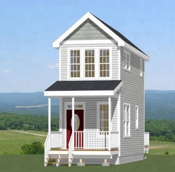 log cabin tiny home 2 story prefabricated house assembled