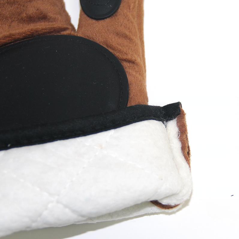 Hot Koop Bruin Keuken Wit Bear 'S Paw Oven Siliconen Wanten Fabriek Prijs Hittebestendige Magnetron Handschoenen Wanten
