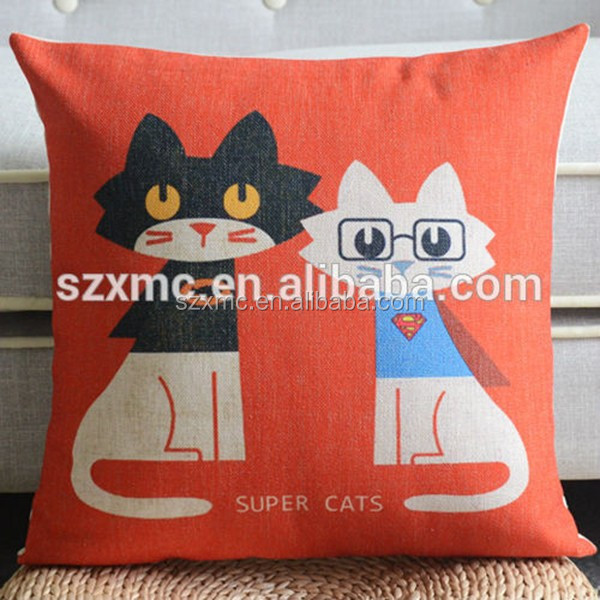 Outstanding Fancy Black And White Cartoon Cat Couples Painting Cotton Chair Cushions Buy Fancy Chair Cushions Cartoon Painting Chshion Couples Cushion Product Squirreltailoven Fun Painted Chair Ideas Images Squirreltailovenorg
