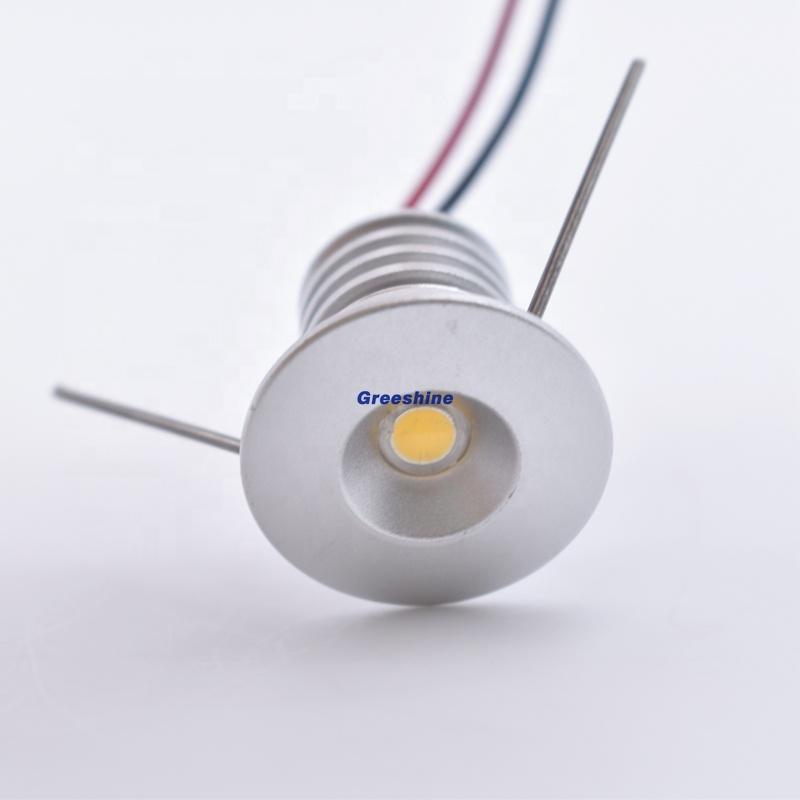 D20mm Mini DC3V 1W Led Cabinet Lamp 100-130Lm Led Down Light