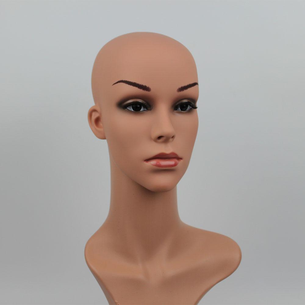 54 cm Realistisch Weiblich Plastik Mannequin Teil Kopf Display für Hut /&